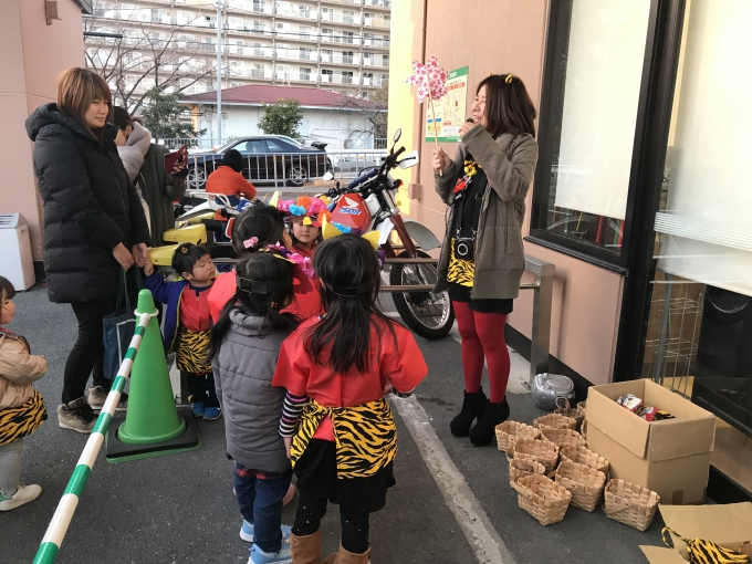 ★ライフ牧野店★ちびっこ赤鬼集合!!【節分パレード2019】