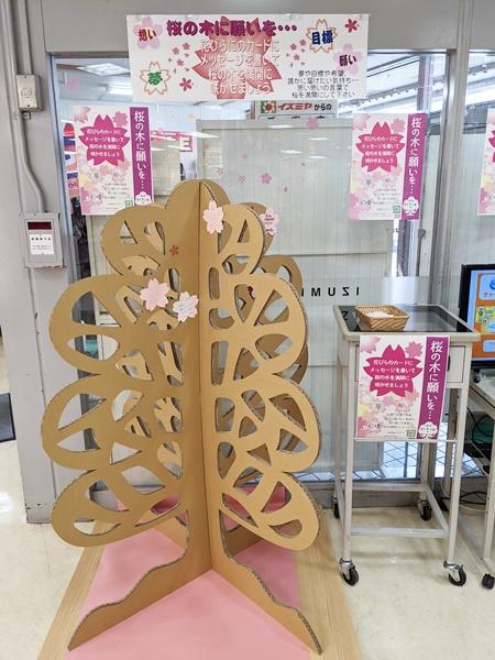 ★イズミヤ寝屋川店★桜の木に願いを…メッセ…の画像